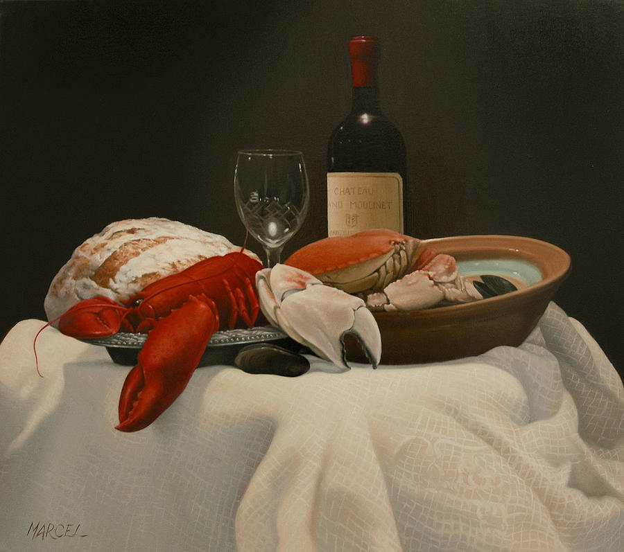Still Life Painting - Just Hanging by Marcel Franquelin
