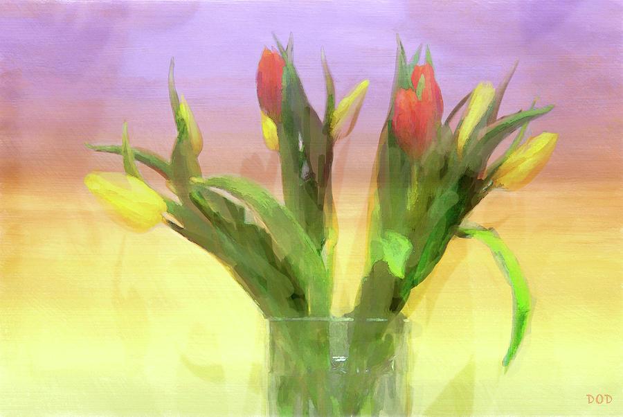 Tulips Digital Art - Just Like Spring by Declan ODoherty