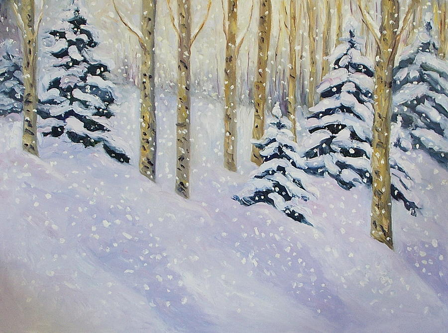 Snow Painting - Just Like Yesterday by Zanobia Shalks