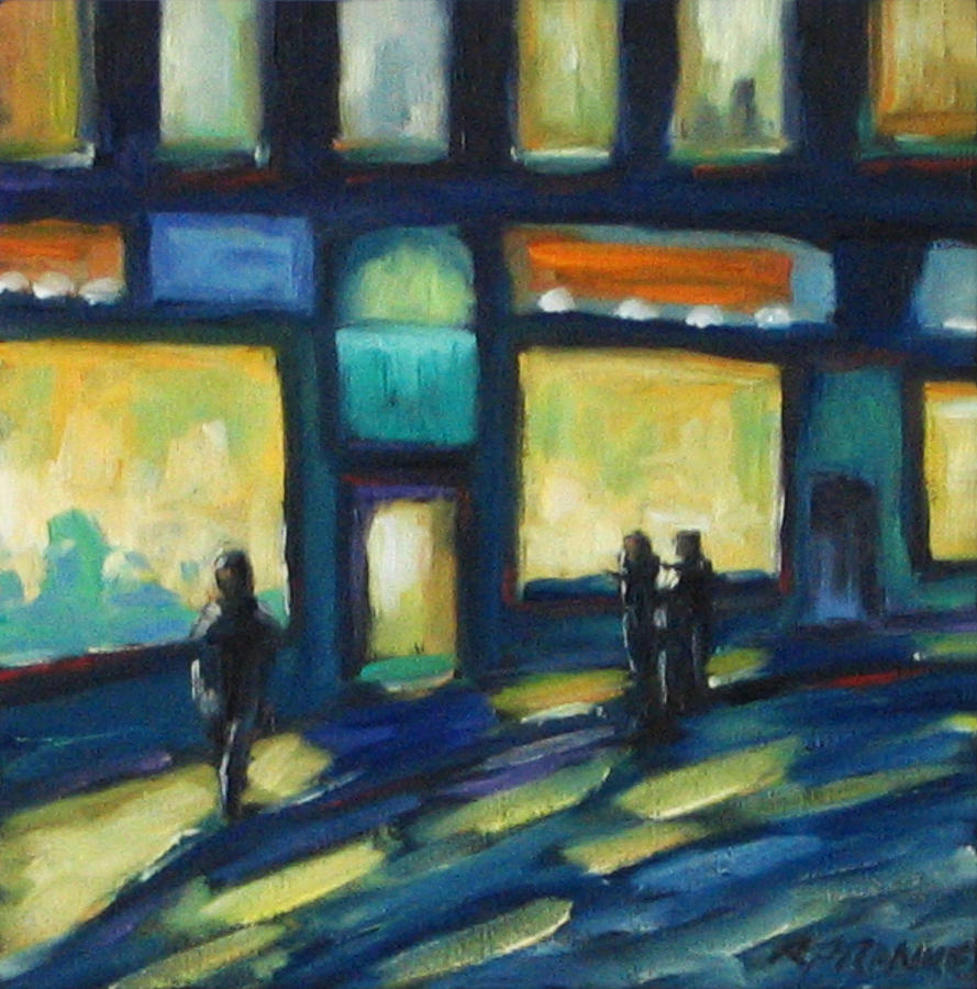 Town Painting - Just Looking by Richard T Pranke