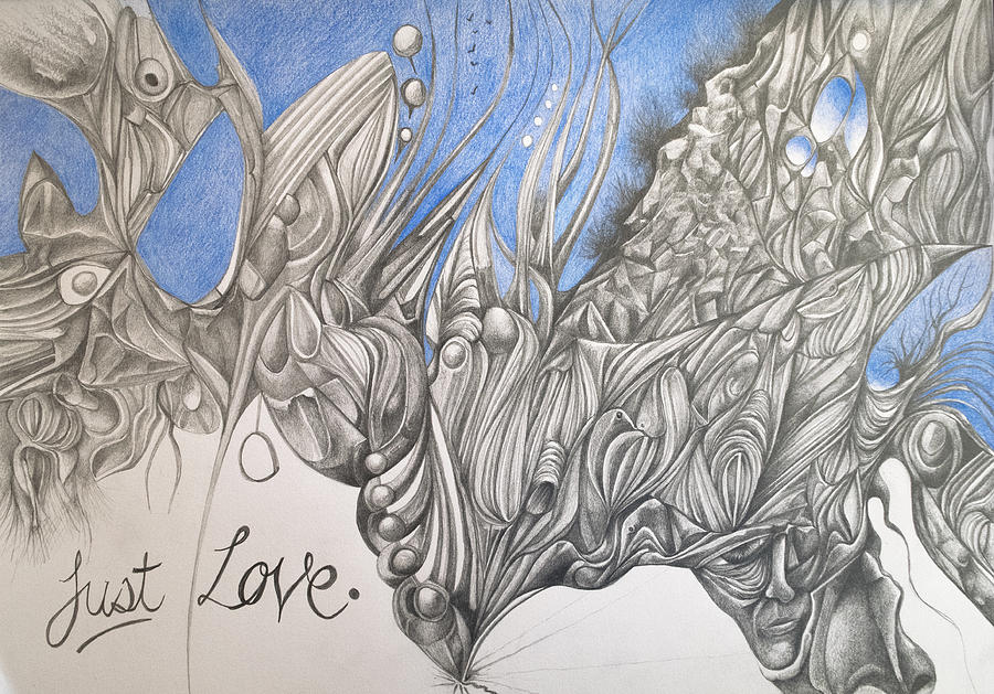 Abstract Drawing - Just Love by Piers Le Sueur
