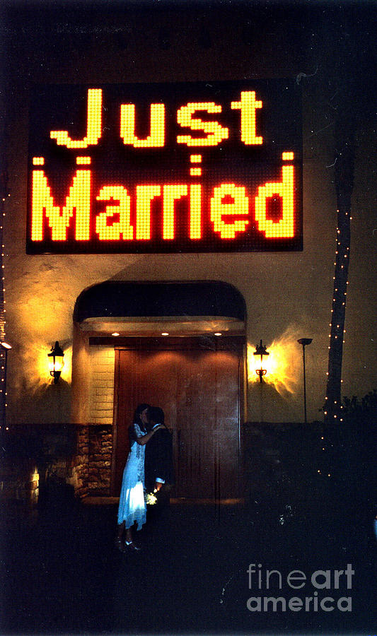 Las Vegas Photograph - Just Married by Andrea Simon