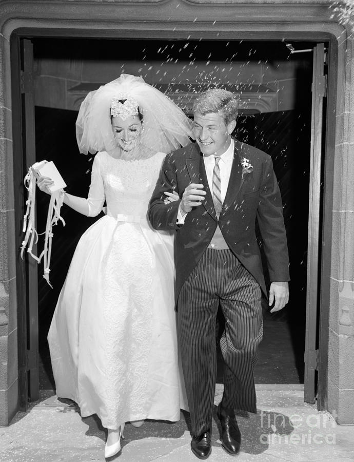 Image result for just married couple 1960's