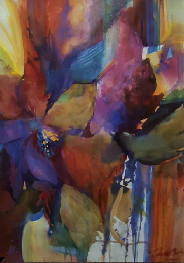 Abstract Painting - Just One Bird by Therese Fowler-Bailey