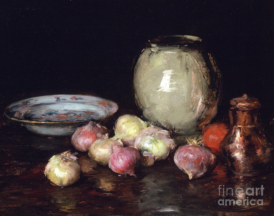 1912 Painting - Just Onions, 1912 by William Merritt Chase