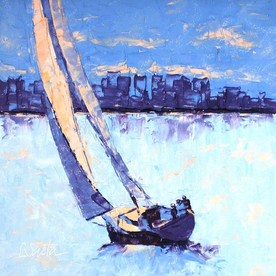Boston Painting - Just Outside Of Boston by Leslie Saeta