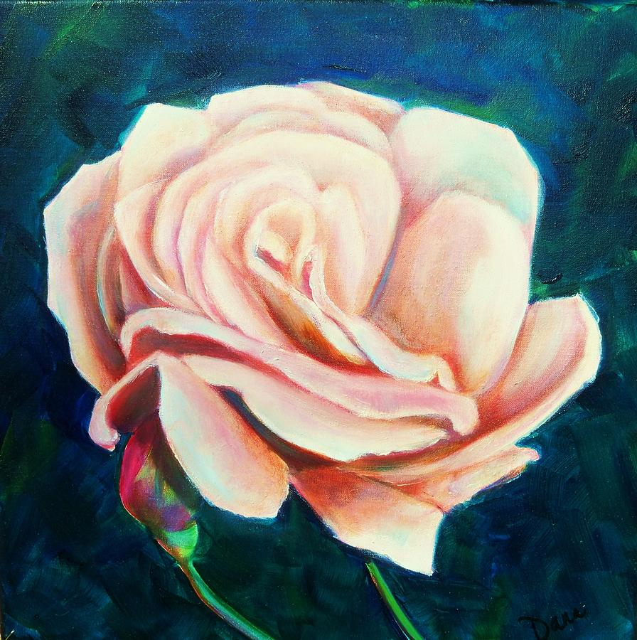 Rose Painting - Just Peachy by Dana Redfern