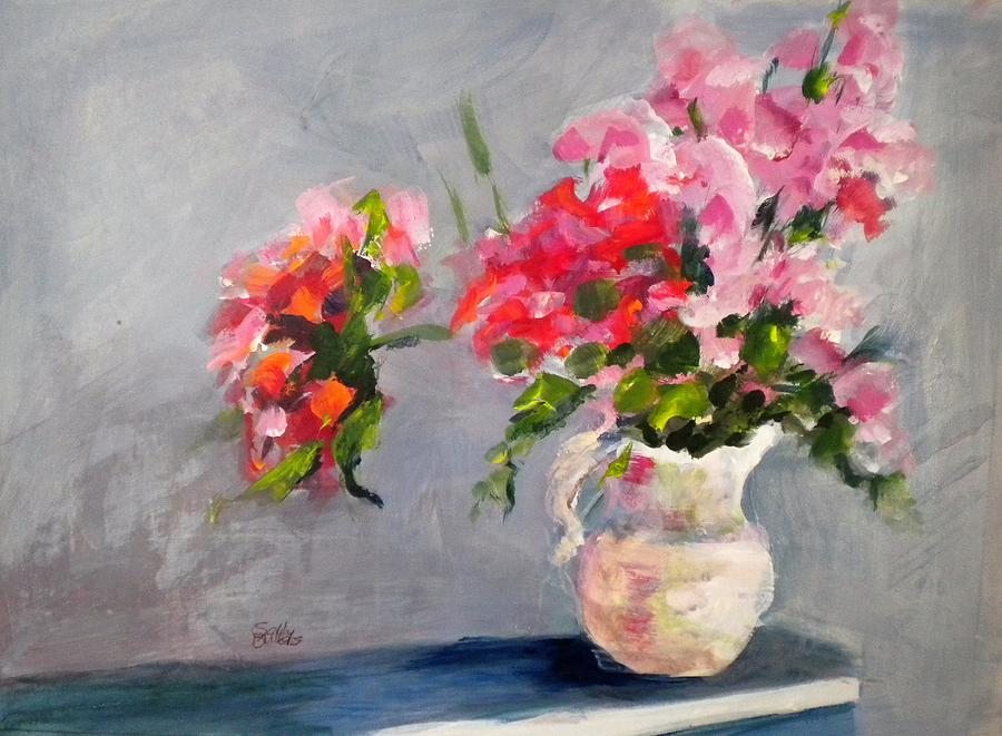 Flowers Painting - Spring Bouquet by Sally Bullers