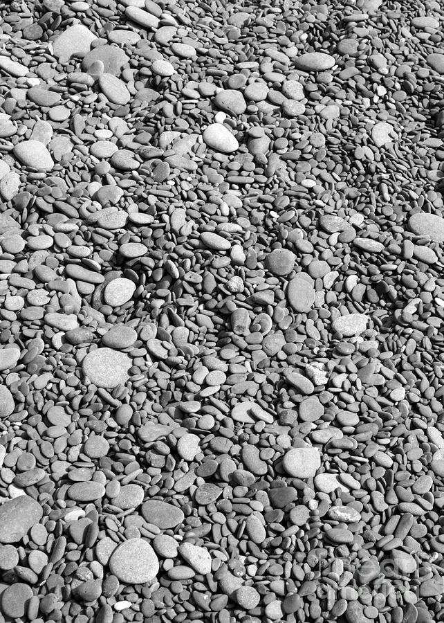 Rocks Photograph - Just Rocks - Black And White by Carol Groenen