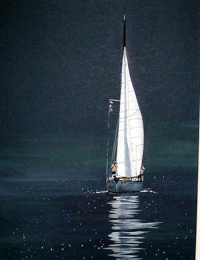 Outdoor Painting - Just Sailing by Paula Rutttle