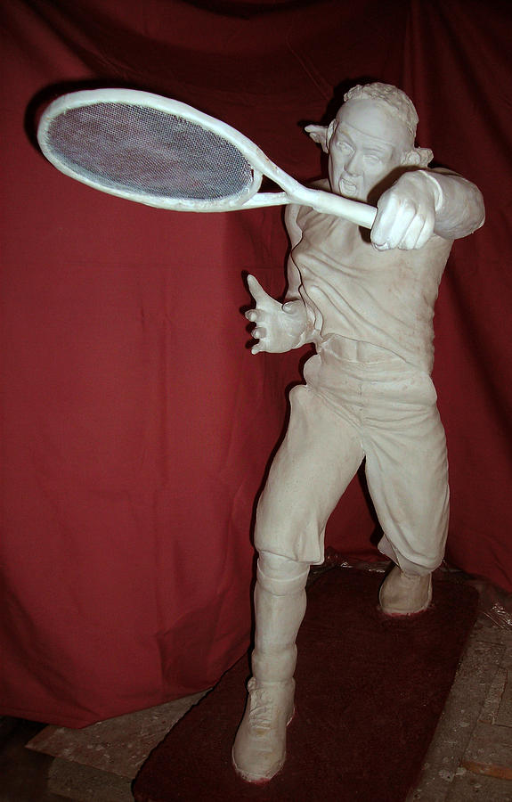 Tennis Sculpture - Just Served by Neda Laketic