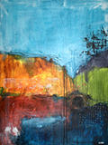 Abstract Art Paintings Painting - Just Waiting by Adam Mitchell