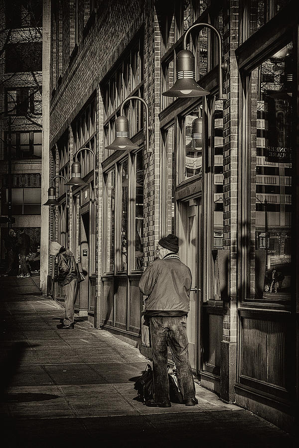 Pioneer Square Photograph - Just Waiting by David Patterson