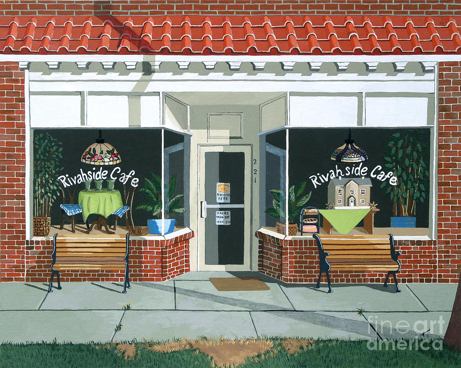 Cafe Painting - Just Walk In by Jennifer  Donald