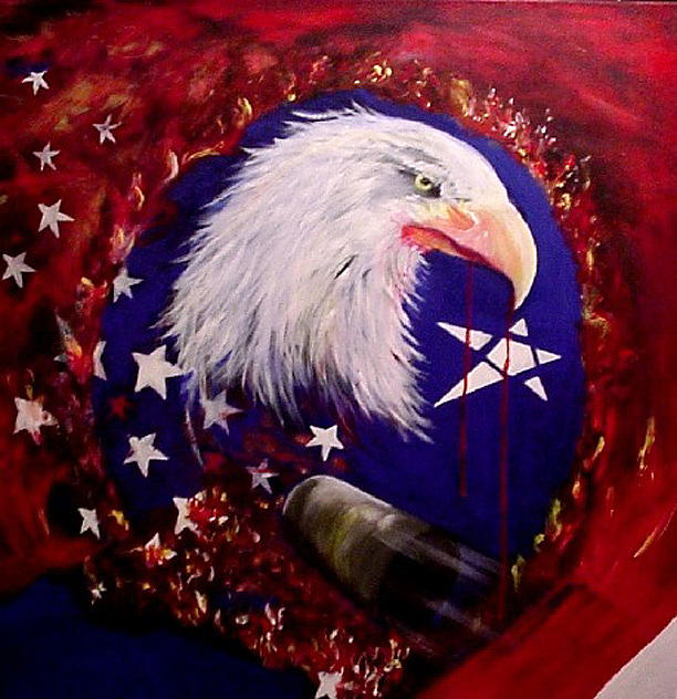 Political Painting - Justice For All by Sharon Wilfong