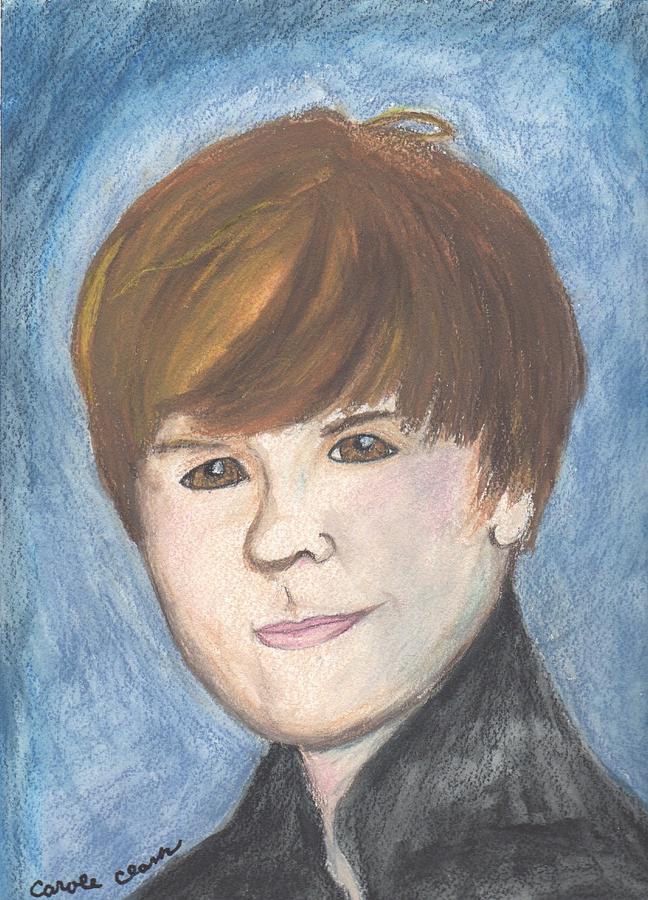Justin Bieber Painting - Justin Bieber by Carole Clark