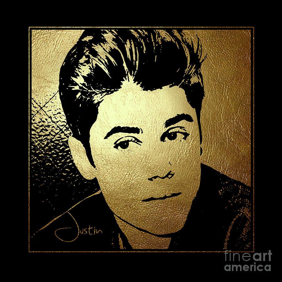 Justin Bieber Portrait Art Pop Star Music America Canvas Print Wall Art Photo