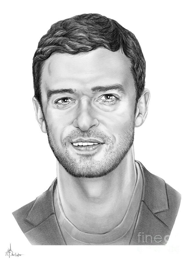 Pencil Drawing - Justin Timberlake by Murphy Elliott