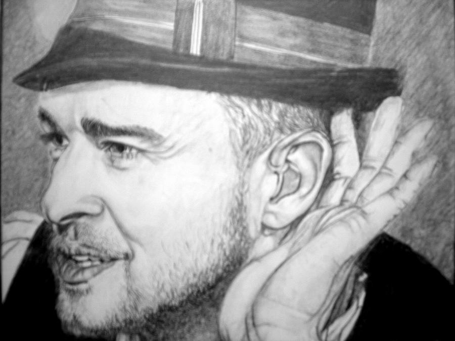 Justin Timberlake Drawing by Sean Leonard