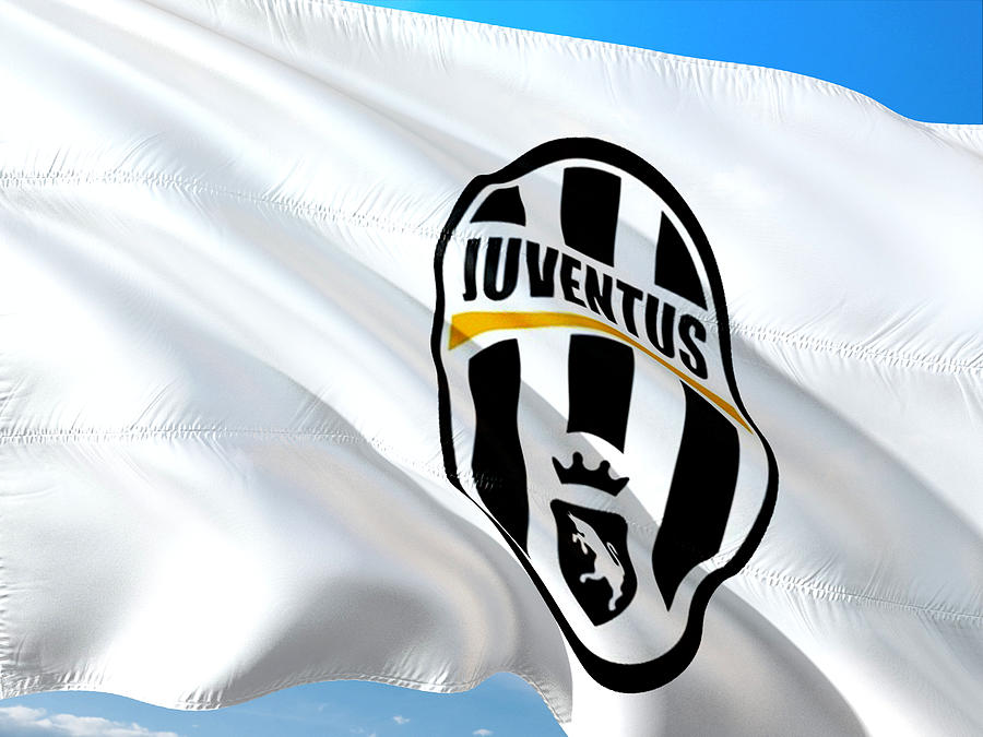 Juventus Football Club Flag Mixed Media By Vrl Arts