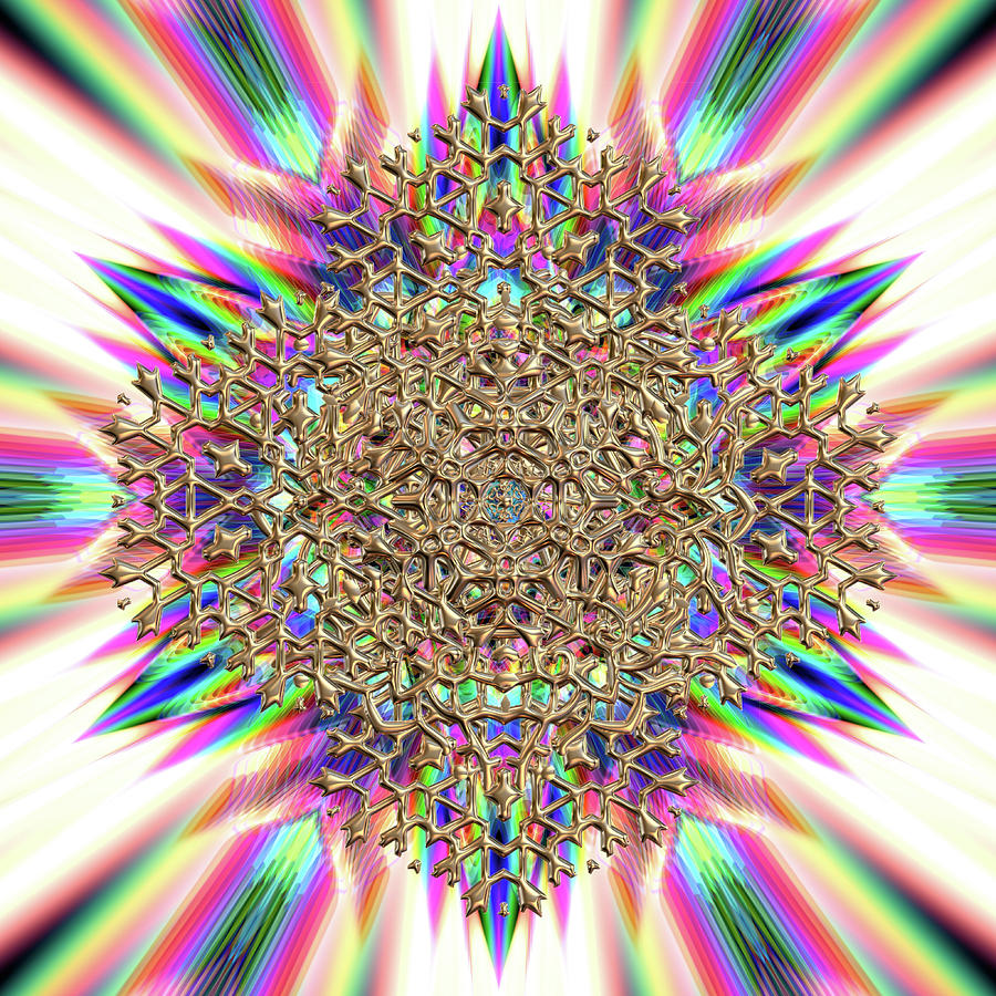 Mandala Digital Art - Jyoti Ahau 2374 by Robert Thalmeier
