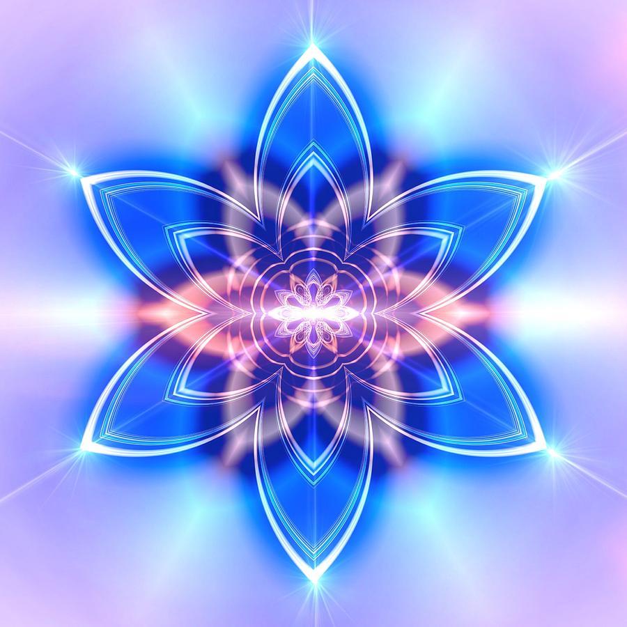 Mandala Digital Art - Jyoti Ahau 435 by Robert Thalmeier
