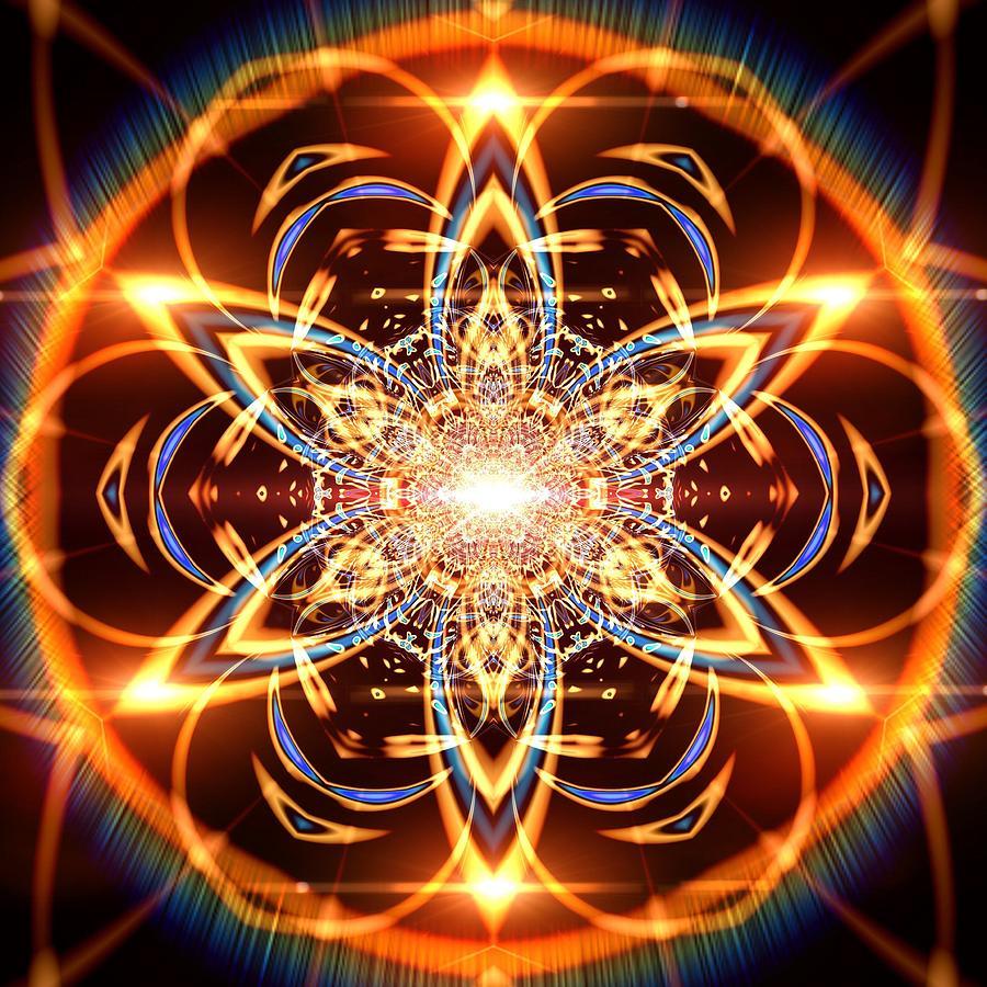 Mandala Digital Art - Jyoti Ahau 436 by Robert Thalmeier