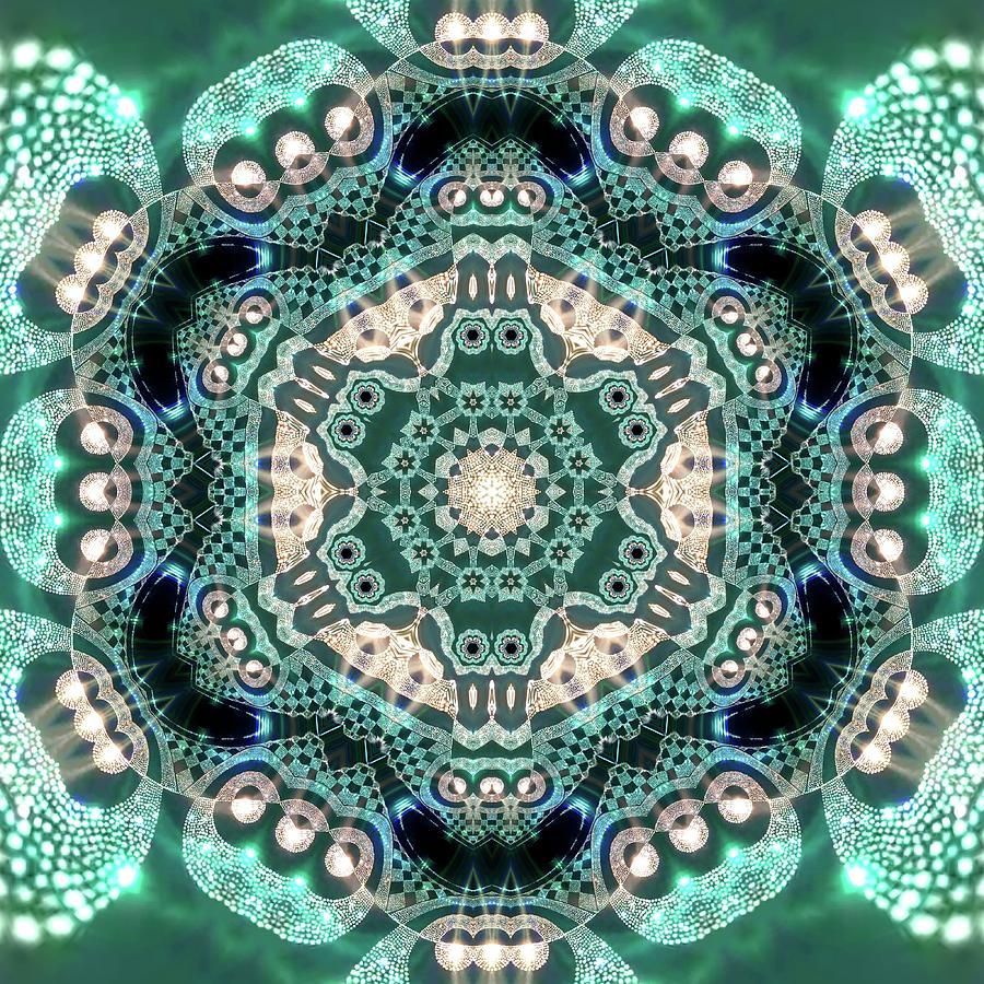 Mandala Digital Art - Jyoti Ahau 997 by Robert Thalmeier