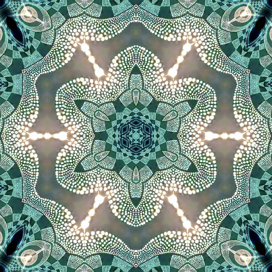 Mandala Digital Art - Jyoti Ahau 998 by Robert Thalmeier