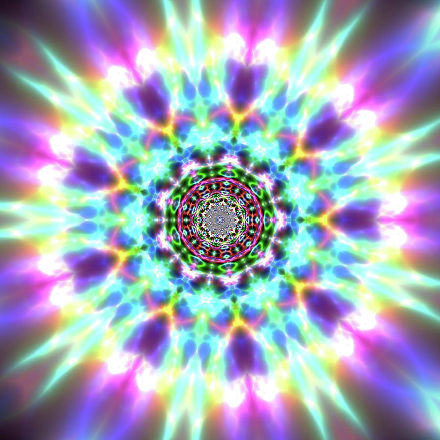 Mandala Digital Art - Jyoti Ahau 999 by Robert Thalmeier