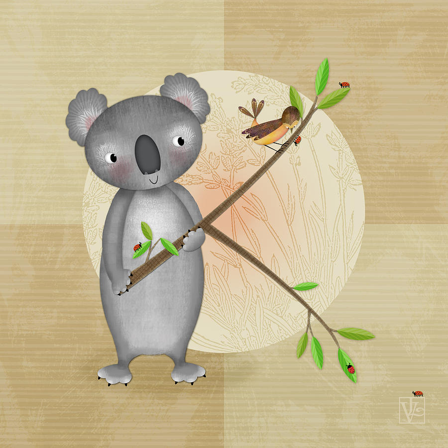 K Is For Koala Digital Art By Valerie Drake Lesiak