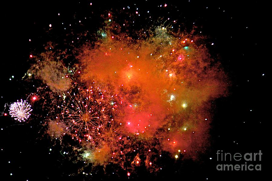 Fire Works Photograph - Ka Boom by Robert Pearson