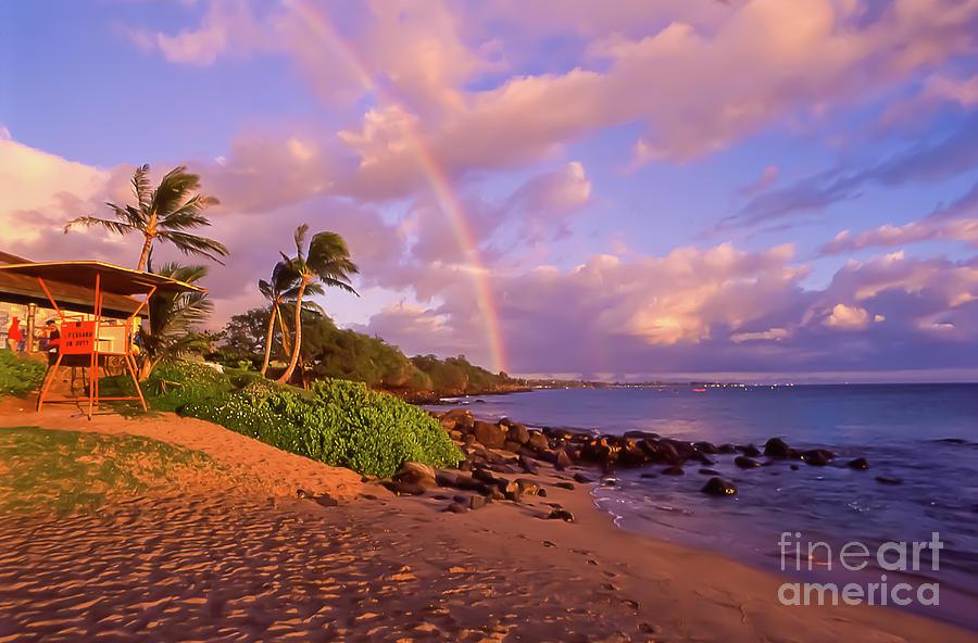 Kaanapali Beach Rainbow Maui Hawaii