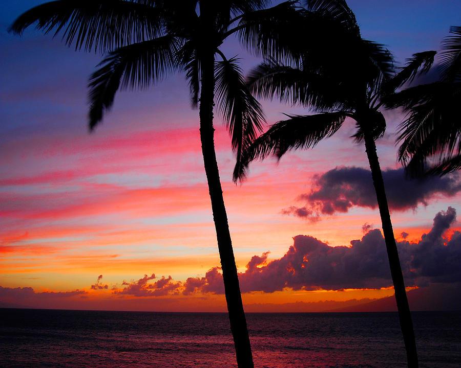 Kaanapali Photograph - Kaanapali Sunset  Kaanapali  Maui Hawaii by Michael Bessler