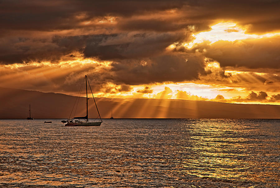 Landscape Photograph - Kaanapali Sunset by Marcia Colelli