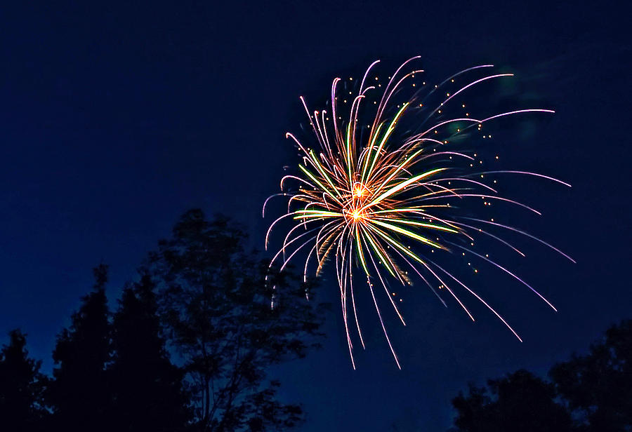 Night Photograph - Kaboom by Steve Harrington