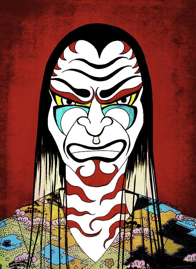 Kabuki Warrior by Shawna Rowe