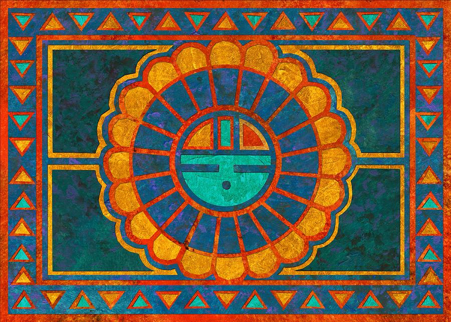 Kachina Sun Spirit Painting by Linda Henry