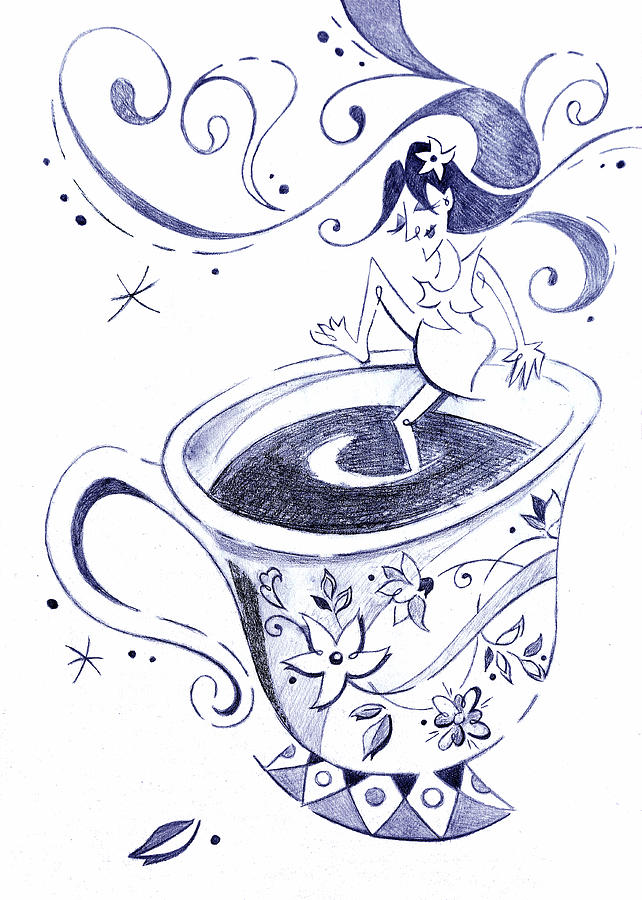 Kaffee Arte Cafe Coffee Cup Drawing Drawing By Arte Venezia