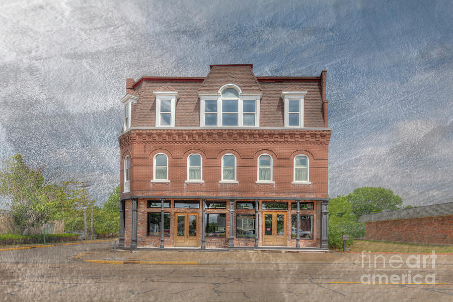 Hdr Photograph - Kaffenberger Building by Larry Braun