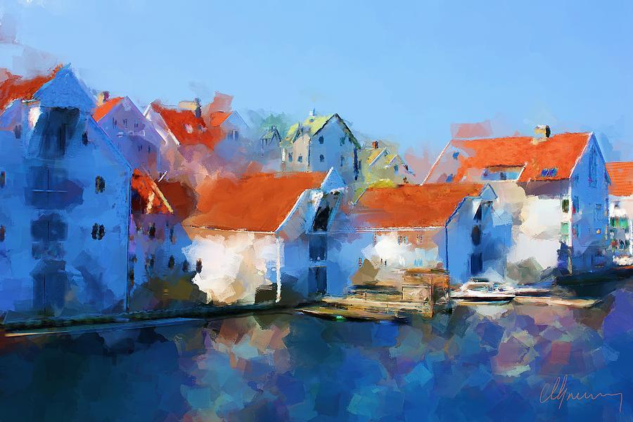 Haugesund Painting - Kai Haugesund  by Michael Greenaway