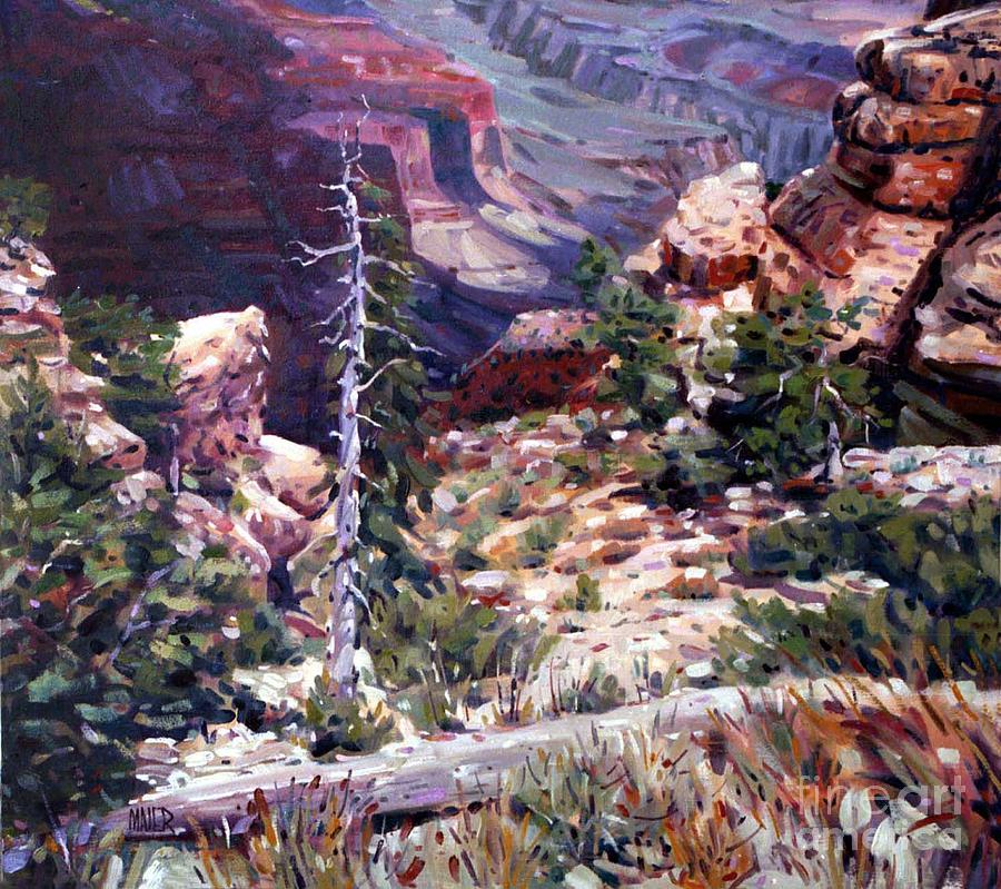 Grand Canyon Painting - Kaibab Trail by Donald Maier