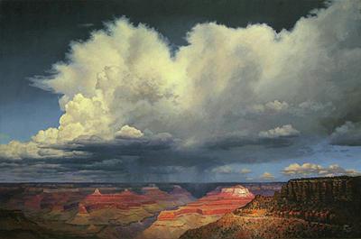 Grand Canyon Painting - Kaibab Trail Storms by John Cogan