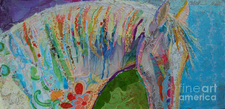 Collaged Painting Mixed Media - Kalaidaescope by Kimberly Santini
