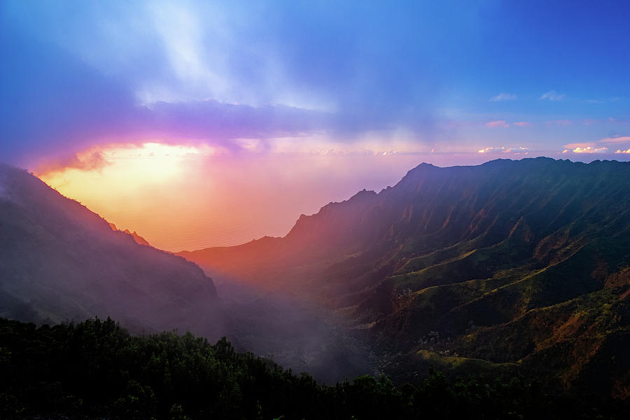Kalalau Valley Sunset by Josh Bryant