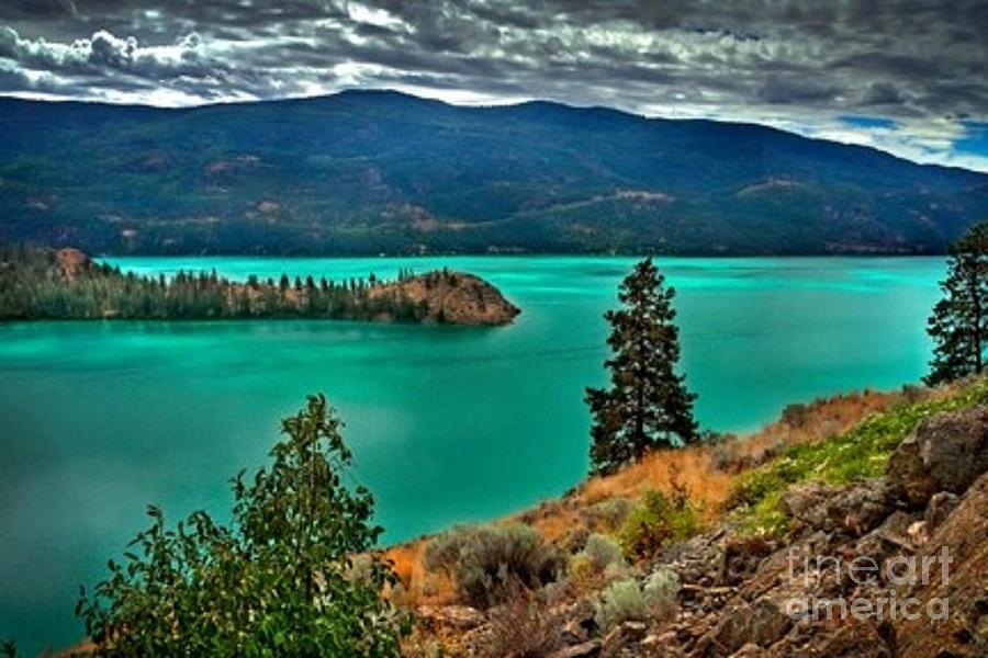 Kalamalka Lake Colors Photograph By Rod Jellison