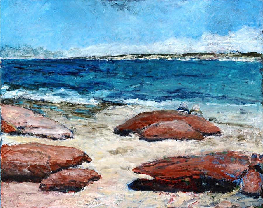 Seascape Painting - Kalbarri  Beach by Joan De Bot
