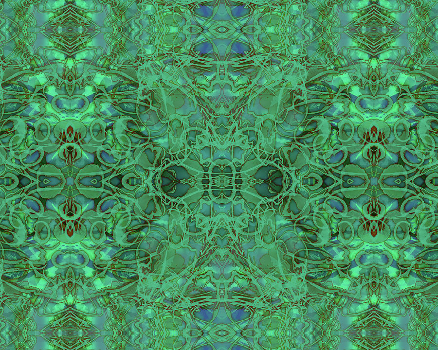 Kaleid Abstract Emerald by Kristin Doner