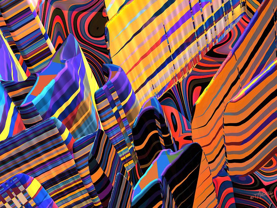 Kaleido-fa-callg. 10x11m3n10 Digital Art by Terry Anderson