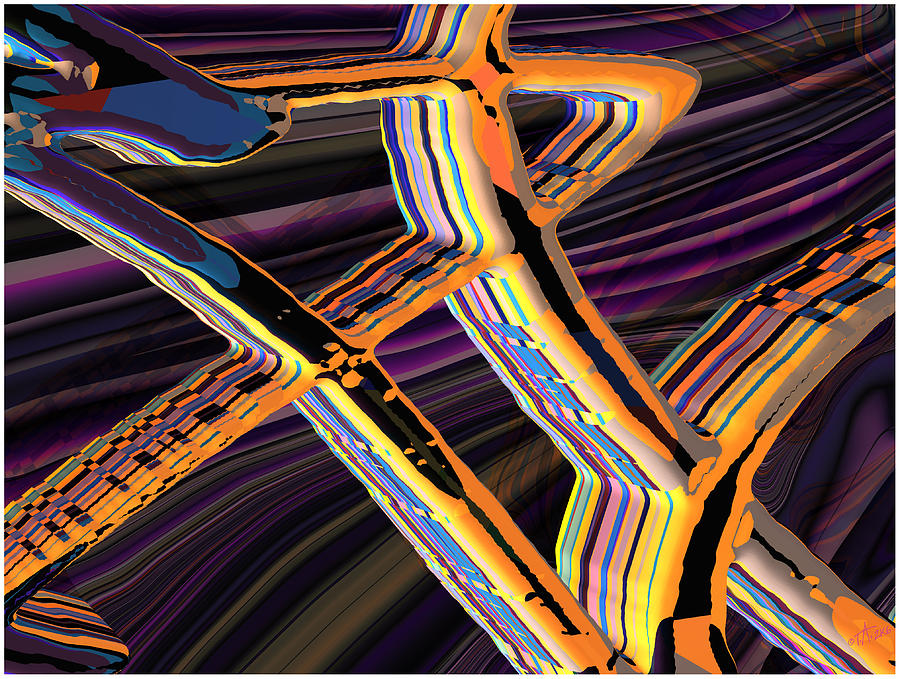 kaleido-Papillon Callg.10x11m23i Digital Art by Terry Anderson